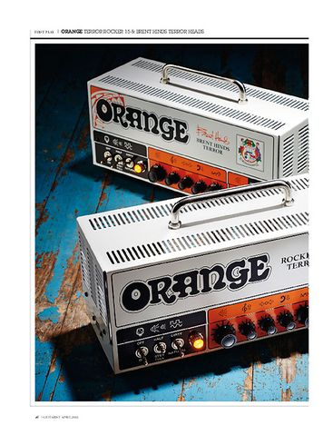 Guitarist Orange Terror Brant Hinds Signature 15 Head