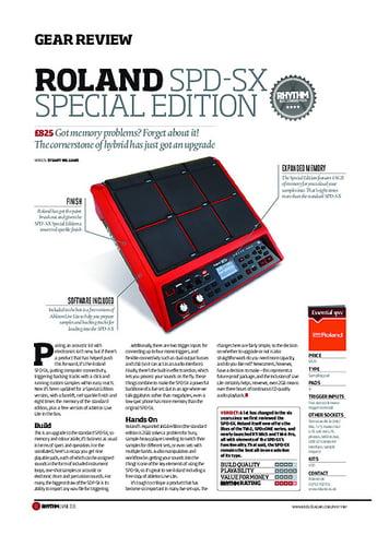 Rhythm Roland SPD-SX Special Edition
