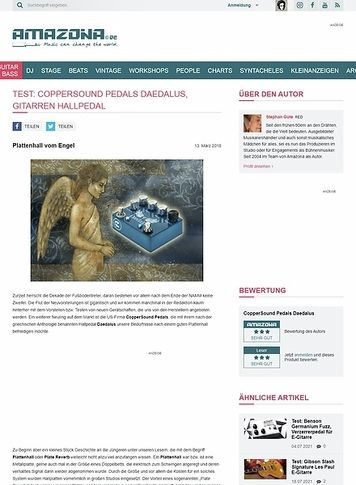 Amazona.de CopperSound Pedals Daedalus
