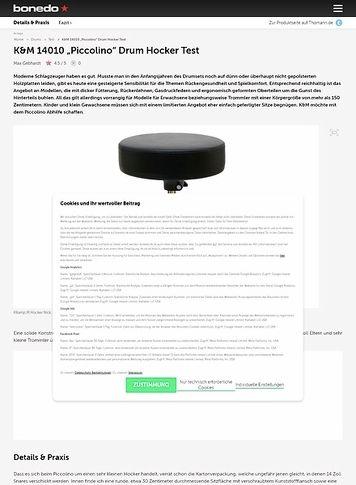 "Bonedo.de K&M 14010 ""Piccolino"" Drum Hocker"