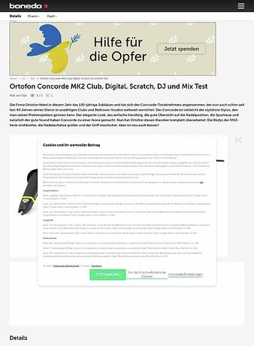 Bonedo.de Ortofon Concorde MK2 Club, Digital, Scratch, DJ und Mix