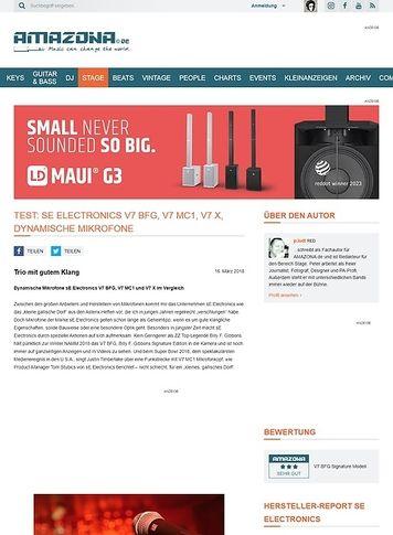 Amazona.de sE Electronics V7 BFG, V7 MC1, V7 X