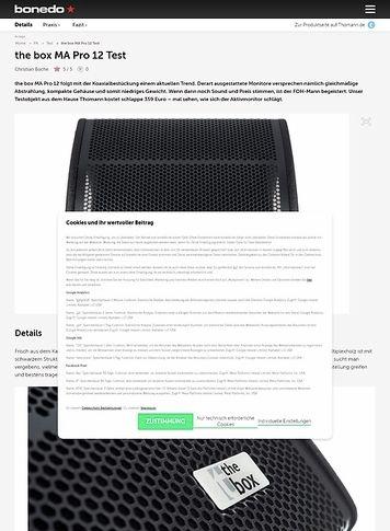 Bonedo.de the box MA Pro 12