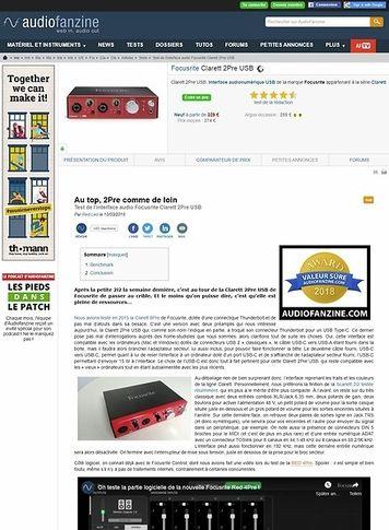 Audiofanzine.com Focusrite Clarett 2Pre USB