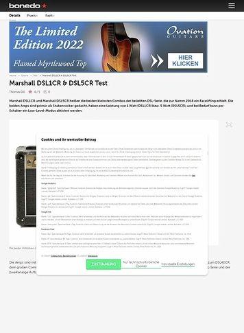 Bonedo.de Marshall DSL1CR & DSL5CR