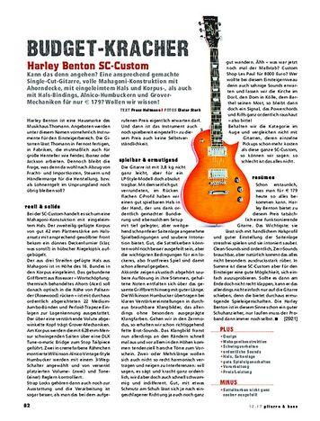 Gitarre & Bass Harley Benton SC-Custom