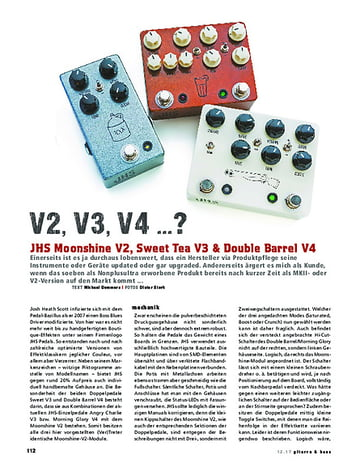 Gitarre & Bass JHS Moonshine V2, Sweet Tea V3 & Double Barrel V4