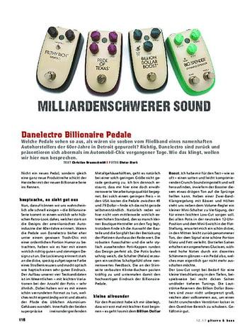 Gitarre & Bass Danelectro Billionaire Pedale