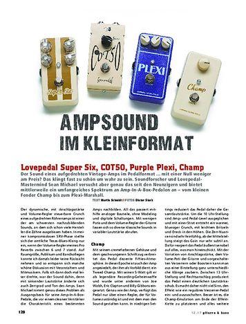 Gitarre & Bass Lovepedal Super Six, COT50, Purple Plexi & Champ