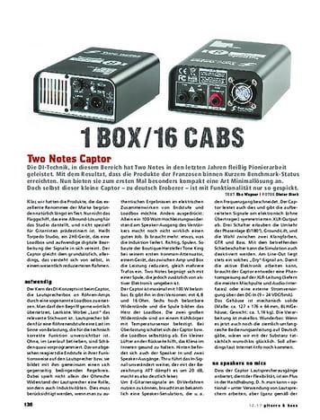Gitarre & Bass Two Notes Captor, Load-Box & Speaker Sim