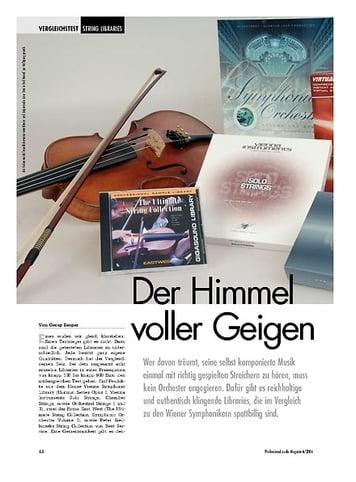 Professional Audio Der Himmel voller Geigen: String Libraries