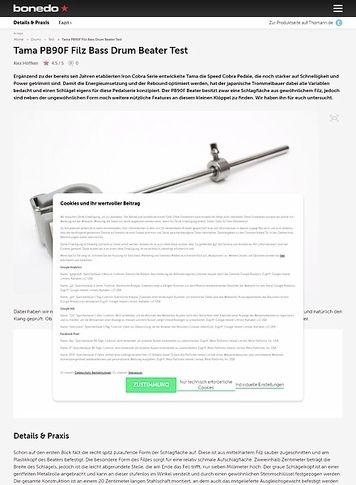 Bonedo.de Tama PB90F Filz Bass Drum Beater