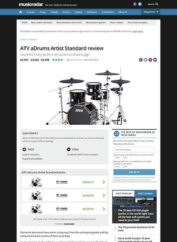 MusicRadar.com ATV aDrums Artist Standard