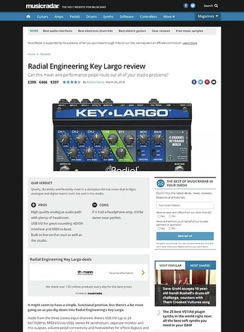 MusicRadar.com Radial Engineering Key Largo