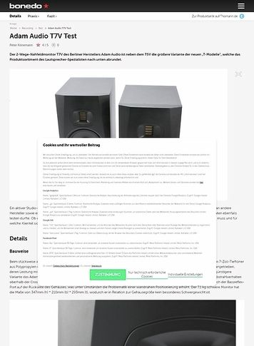 Bonedo.de Adam Audio T7V