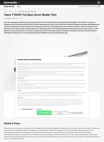 Bonedo.de Tama TTB30F Filz Bass Drum Beater