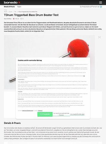 Bonedo.de TDrum Triggerball Bass Drum Beater