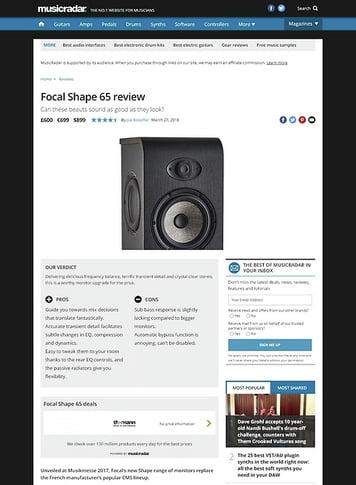 MusicRadar.com Focal Shape 65