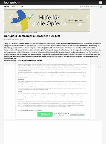 Bonedo.de Darkglass Electronics Microtubes 500