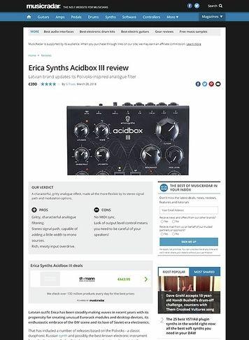 MusicRadar.com Erica Synths Acidbox III