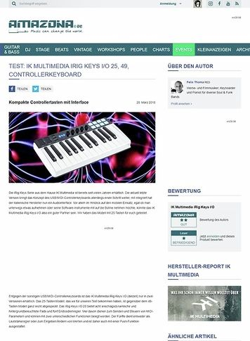 Amazona.de IK Multimedia iRig Keys I/O 25, 49