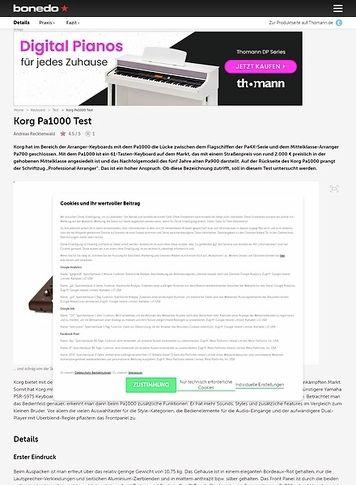 Bonedo.de Korg Pa1000
