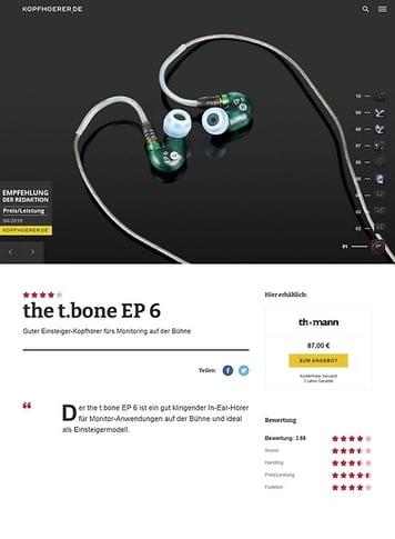 Kopfhoerer.de the t.bone EP 6