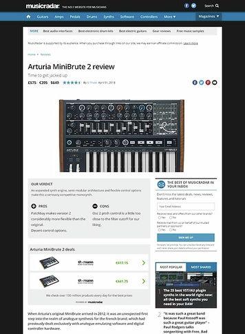 MusicRadar.com Arturia MiniBrute 2