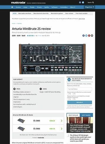 MusicRadar.com Arturia MiniBrute 2S