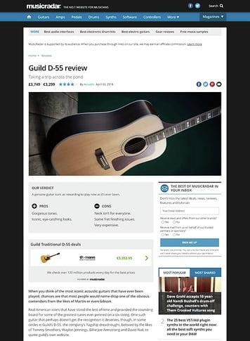 MusicRadar.com Guild D-55