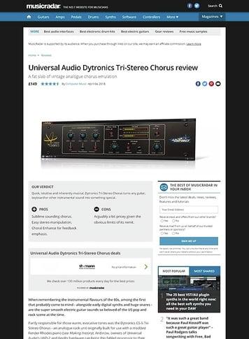 MusicRadar.com Universal Audio Dytronics Tri-Stereo Chorus