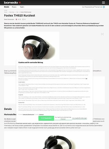 Bonedo.de Fostex TH610