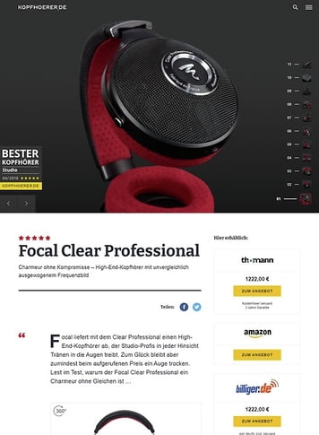 Kopfhoerer.de Focal Clear Professional