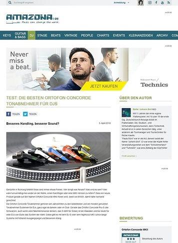 Amazona.de Die besten Ortofon Concorde Tonabnehmer für DJs