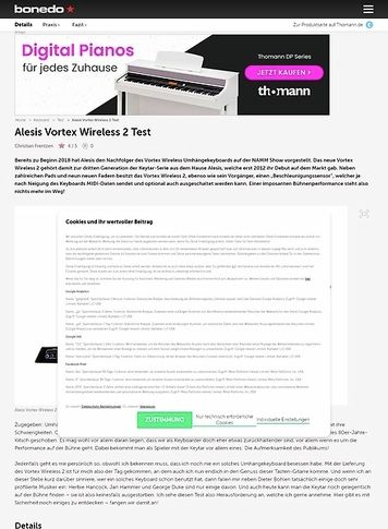 Bonedo.de Alesis Vortex Wireless 2
