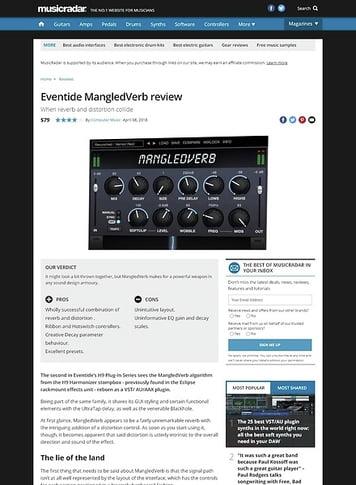 MusicRadar.com Eventide MangledVerb