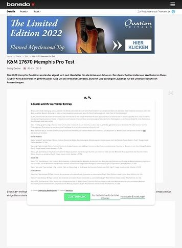 Bonedo.de K&M 17670 Memphis Pro