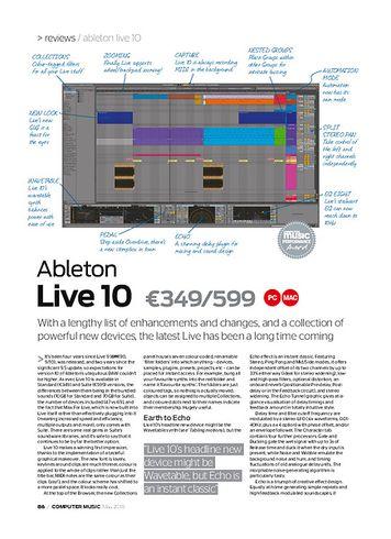 Computer Music Ableton Live 10