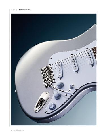 Guitarist PRS Silver Sky