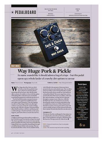 Guitarist Way Huge Pork & Pickle