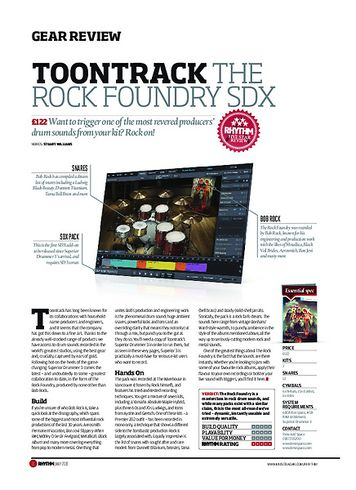 Rhythm Toontrack The Rock Foundry SDX