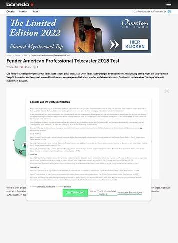 Bonedo.de Fender American Professional Telecaster
