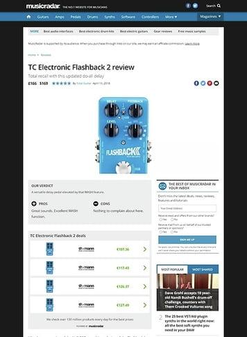 MusicRadar.com TC Electronic Flashback 2