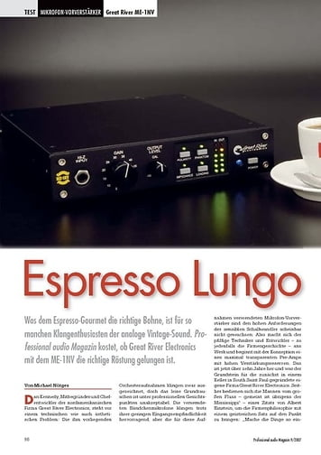 Professional Audio Espresso Lungo Great River ME-1NV