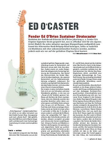 Gitarre & Bass Fender Ed O'Brien Sustainer Stratocaster