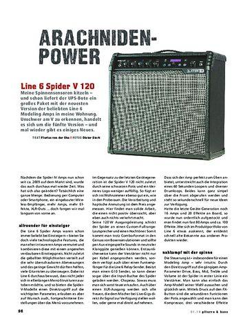 Gitarre & Bass Line 6 Spider V 120