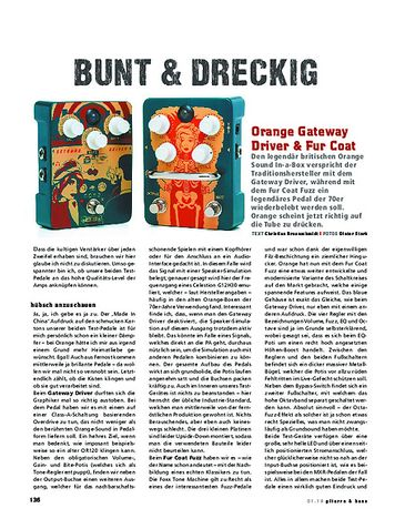 Gitarre & Bass Orange Gateway Driver & Fur Coat