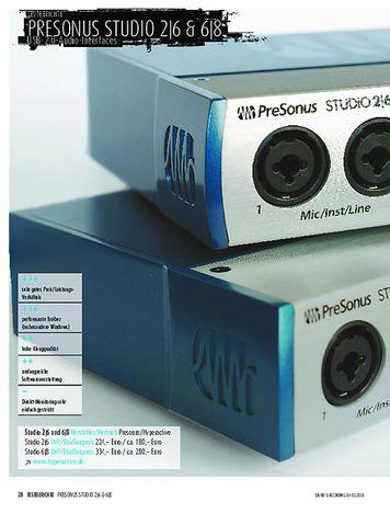 Sound & Recording Presonus Studio 2|6 und 6|8