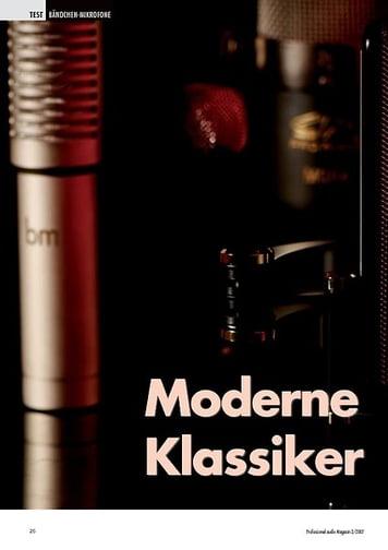 Professional Audio Moderne Klassiker: Bändchen Mikrofone