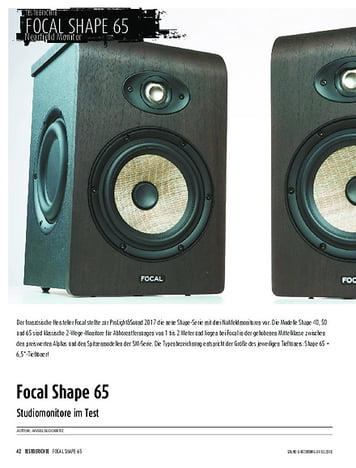 Sound & Recording Focal Shape 65